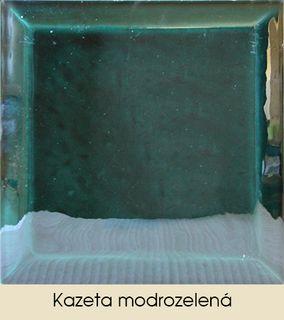 Kazeta modrozelená
