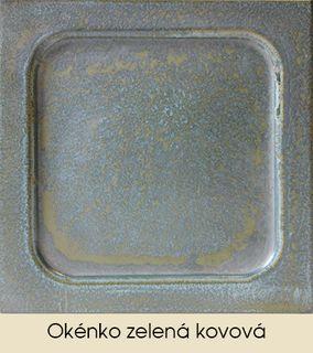 Okénko zelená kovová