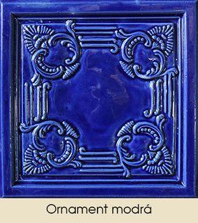 Ornament modrá